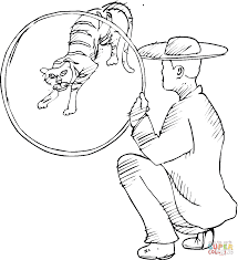 circus tiger coloring page free printable coloring pages