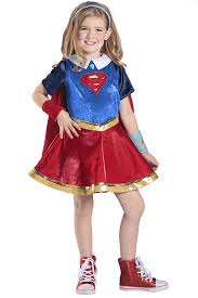 child halloween costumes uk dc superhero girls premium supergirl costume