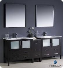 50 inch double sink vanity fresca torino 84 espresso modern double sink bathroom vanity with