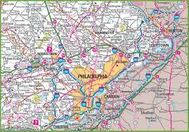 Map Of Phoenix Area Philadelphia Area Map