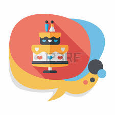 wedding cake flat icon with long shadow royalty free cliparts