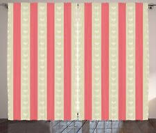 window curtains and drapes in color pink pattern striped ebay