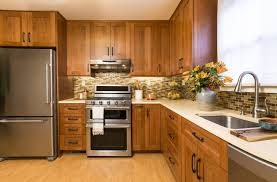 modern kitchen with cherry wood cabinets is it worth it to reface kitchen cabinets i e cabinets