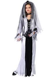 Halloween Costumes Skeleton Woman Kids Skeleton Bride Costume Ghostly Bride Child Fancy Dress
