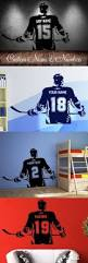 best ideas about wall stickers for kids pinterest bedroom hockey player wall art decal sticker choose name number personalized home decor stickers for kids room vinilos paredes