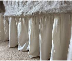 Shabby Chic Twin Bed by Amazon Com Ivory Cream Bedskirt Cream Linen Bed Skirt Natural