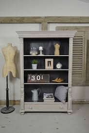 curbside painted bookcase for the craft room chalk paint