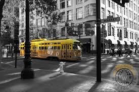 old cars black and white san francisco vintage streetcar on market street u2013 5d19798 u2013 black