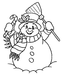christmas snowman coloring pages coloring