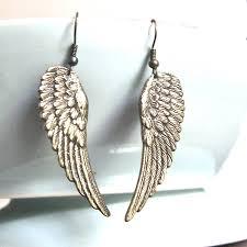 angel wing earrings bronze angel wing earrings by gaamaa notonthehighstreet