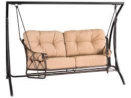 Wrought Iron Outdoor Swing by Woodard Derby Wrought Iron Swing 4t0179