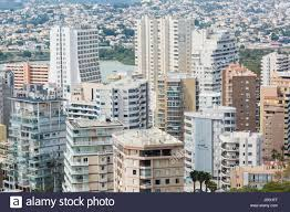 skyscrapers in the city of calp calpe on the spanish