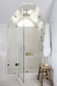 bathroom small white attic bathroom with glass shower door ideas