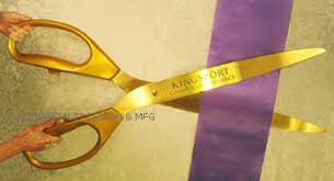 large ribbon ribbon cutting ceremonial scissors 11 to 38 inches made in