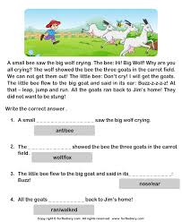 reading comprehension carrot field worksheet turtle diary