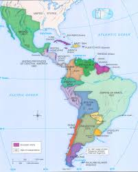 Mexico Map 1821 by Latin American Revolutions