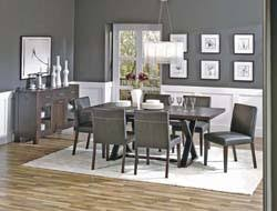 Love The Gray Walls With The White Board And Batten For The Dining - Gray dining room furniture