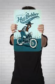 metal sign bluegrass hillbobber motorcycle home decor wall vintage