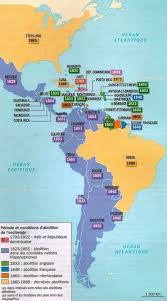 the americas map a timeline of the abolition of slavery in the americas