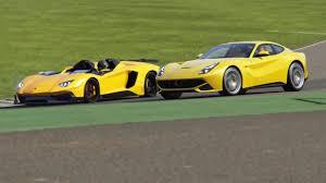 Lamborghini Aventador J Black - battle lamborghini aventador j vs ferrari f12 berlinetta racing at
