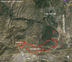 California Wildfire Evacuation Plan by California Border Fire Forces Evacuation Of Additional Areas