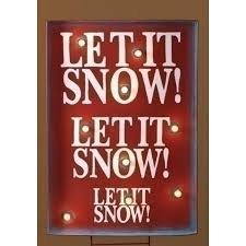 34 lighted let it snow outdoor yard sign