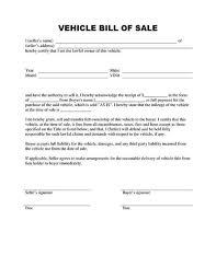 vehicle bill of sale form template sample calendar template