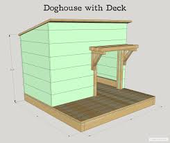 DIY Doghouse with Deck Toy Box and Food Bowl