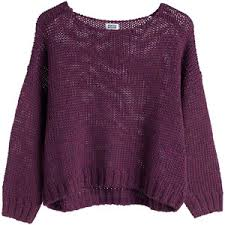 purple sweater oxy knit sweater purple reddish polyvore