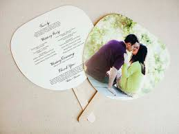 fan shaped wedding programs creative tip choosing your ceremony program hooper
