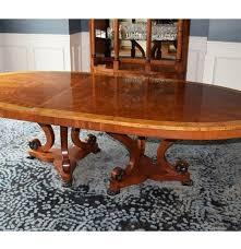 elegant oval henredon double pedestal dining table ebth