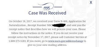 n 400 october 2017 filers page 9 us citizenship case filing