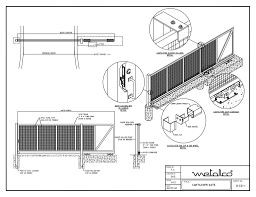 gate system cad drawings metalco fence railing facade screen