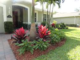 Front Landscaping Ideas by Low Maintenance Tropical Landscaping In Vero Beach Construction