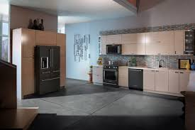Cream Colored Kitchen Cabinets With White Appliances Kitchen Appliances Kitchen Dark Brown Wooden Kitchen Islands