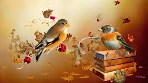 cute fall wallpaper for desktop autumn birds hd desktop wallpaper widescreen high definition