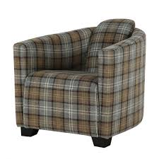 Tartan Armchairs Tartan Tub Chair Occasional Accent Chair Curiosity Interiors