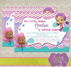 bubble guppies birthday party invitations stephenanuno com