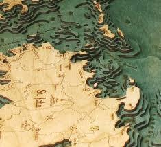 St Thomas Virgin Islands Map St Thomas St John U S Virgin Islands 3 D Nautical Wood Chart