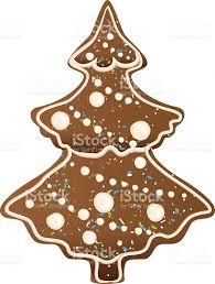 gingerbread christmas tree shape stock vector art 621489616 istock