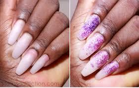 notd pink glitter ombre nail art stella u0027s addiction
