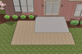 How To Make A Patio Out Of Pavers How To Install Larger Paver Patio Smaller Existing Concrete