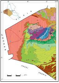 Map Of The World To Scale by Geological Map Of The Iraqi Western Desert Part I Scale 1 2