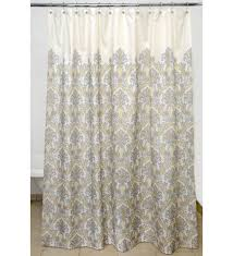 Grey And Yellow Shower Curtains Bedazzled Gray Damask Polyester Shower Curtain Affordable Modern