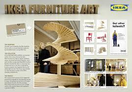 ikea ambient advert by grabarz u0026 partner furniture art ads of