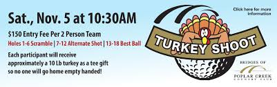 turkey shoot golf event hoffman estates park district