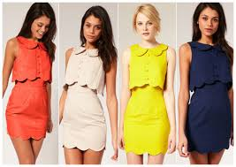 in anna kendrick u0027s closet u2013 asos pique chelsea scalloped shift dress