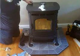 free standing harman absolute 43 pellet stove installation in