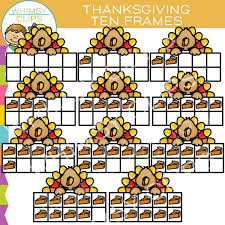 thanksgiving ten frames clip images illustrations whimsy