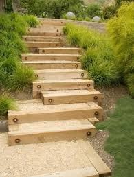garten treppe gartentreppe aus holz mit sand selber bauen trappor